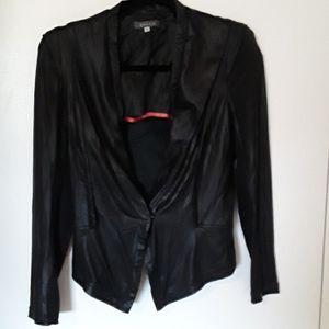 Faux snakeskin/leather Blazer